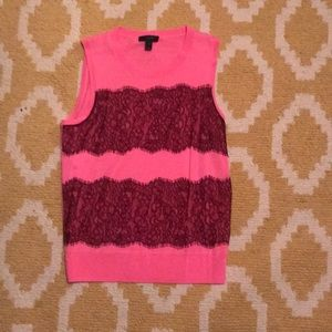 Jcrew Lace Sweater Vest